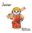 Alphabet professions Owl Letter J - Joiner vector image