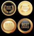 best choice emblem vector image