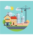 Flat Design Building Construction and Urban vector image