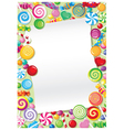 candy card vector image