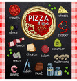 Pizza and ingredients for cooking vector image vector image