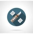 Floor repair round flat icon vector image