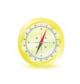 compass in yellow color vector image