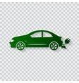 Eco car concept Go green vector image