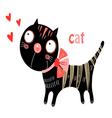 funny kitten vector image