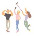 People Making Selfie Set vector image