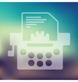 typewriter icon on blurred background vector image
