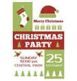 Christmas party invitation poster flyer vector image