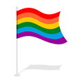 LGBT Flag Official symbol of homosexual community vector image