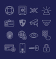 security line icons vector image