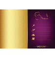 Golden - purple food menu vector image vector image