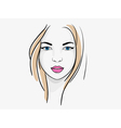 Young beatiful woman portrait sketch vector image vector image