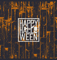 happy halloween holiday card 31 of october vector image