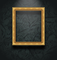 Picture frame on floral texture wall vector image vector image
