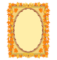 Frame with autumn leaves rowan and maple vector image