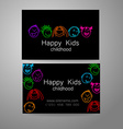 happy kids logo vector image vector image