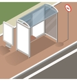 isometric bus stop mockup vector image