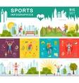 Set Sport Infographic vector image