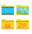 Folder Icon Design Style Set vector image