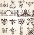 Decorative ornaments design elements corners vector image vector image