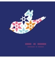 abstract colorful stars bird silhouette vector image