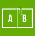 children abc icon green vector image