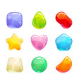 funny cartoon colorful jelly candies set vector image