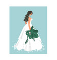 hand drawn abstract wedding bridal in white vector image