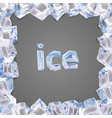 ice frame vector image