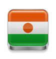 Metal icon of Niger vector image