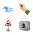 Protection tools attributes and other web icon vector image