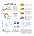 Set of flat graphics and diagrams infographic vector image