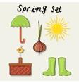 Spring garden set vector image