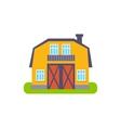 Yellow Barn Suburban House Exterior Design vector image