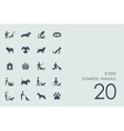 Set of domestic animals icons vector image