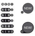 stickers new label vector image