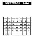 September calendar 2014 vector image