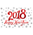 2018 happy new year holiday greeting card on vector image
