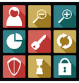 User flat icons 2 vector image