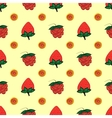 raspberry strawberry berry seamless pattern vector image