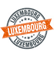 Luxembourg red round grunge vintage ribbon stamp vector image