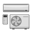 Air Conditioner Set on White Background vector image