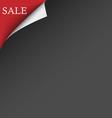 Black red sale corner background vector image