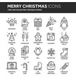 christmas and new year winter holidays santa vector image