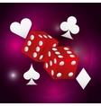 dice casino game icon vector image