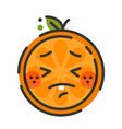 emoji - crying orange isolated vector image