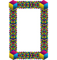 Multicolored cubes frame corner vector image