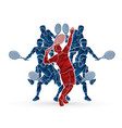 tennis players men action vector image