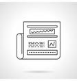 Web analytics icon line design icon vector image