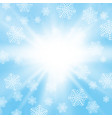 winter background with snowflakes for print vector image